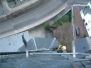 Industrieklettern an Kirchtürmen - Sturmschadenbeseitigung