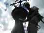 Industrieklettern an Kirchtürmen - Montage Blitzschutz