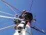 Industrieklettern - Montage von schweren Bauteilen - Antennenmontage