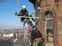 Industrieklettern an historischen Gebäuden - Abbau Konsolengerüst