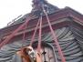 Industrieklettern an Kirchtürmen - Kontrolle der Turmeindeckung und diverse Holzarbeiten