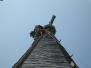Industrieklettern an Kirchtürmen - Sturmschadenbeseitigung und Kreuzbefestigung