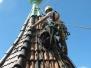 Industrieklettern an historischen Gebäuden - Abdecken von historischen Ziegeln