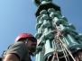 Industrieklettern an historischen Gebäuden - Sanierung der historischen Turmdeckung