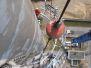 Industrieklettern - Montage von schweren Bauteilen - Montage eines Stahlumlaufs