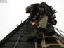Industrieklettern an Kirchtürmen - Blitzschutzreparatur